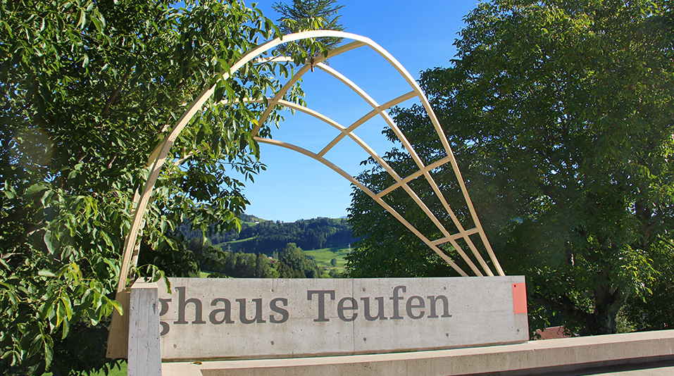 The final PROTOTYPE PAVILION at the Zeughaus Teufen in Switzerland